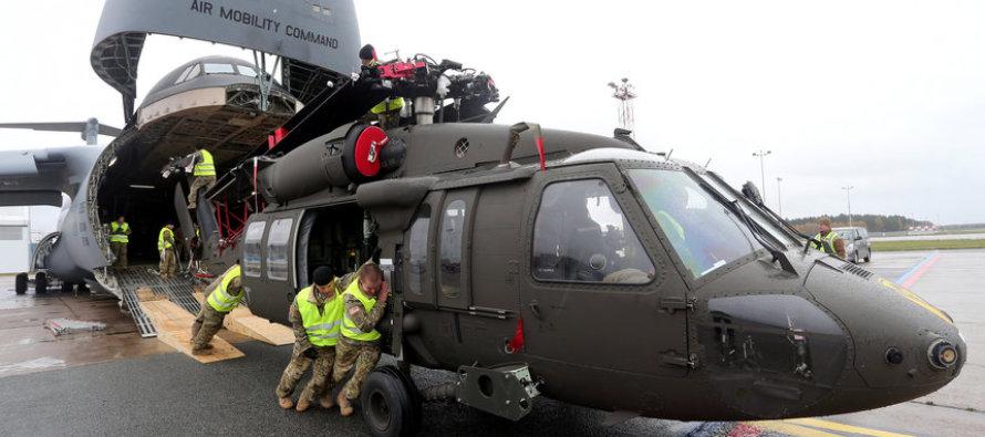 В аэропорт «Рига» прибыли вертолёты США