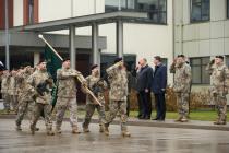 1-й Рижской бригаде Земессардзе вручено Знамя