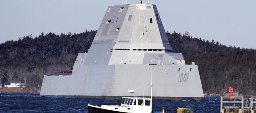 Малозаметный эсминец ВМФ СШВ вышел в море