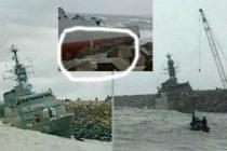 Иранский фрегат ушёл под воду на Каспии