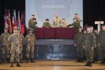 Смена командования Боевой группы НАТО