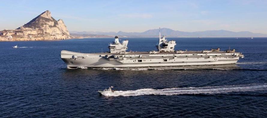 HMS Queen Elizabeth прибыл в Гибралтар