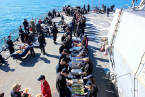 USS Porter принимает друзей и членов семей