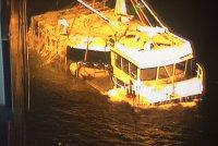 Подъём рыболовного судна в Скерхамн