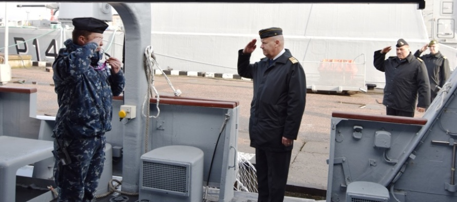 Визит командующего ВМФ Финляндии в Литву