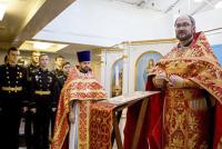 Божественная литургия на борту крейсера «Аврора»