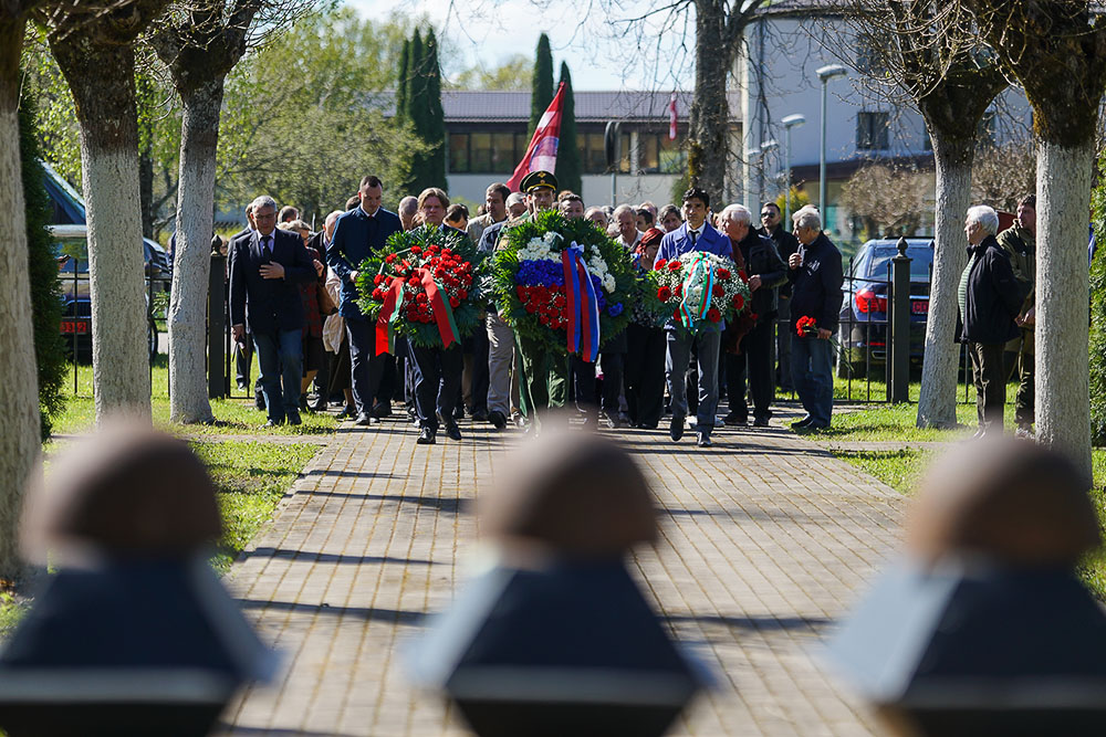 Церемония захоронения в Ропажи