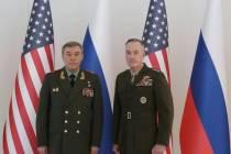 Встреча Валерия Герасимова с Джозефом Данфордом