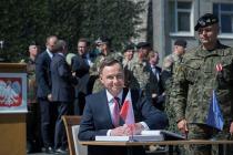 Президент Польши побывал на базе в Адажи