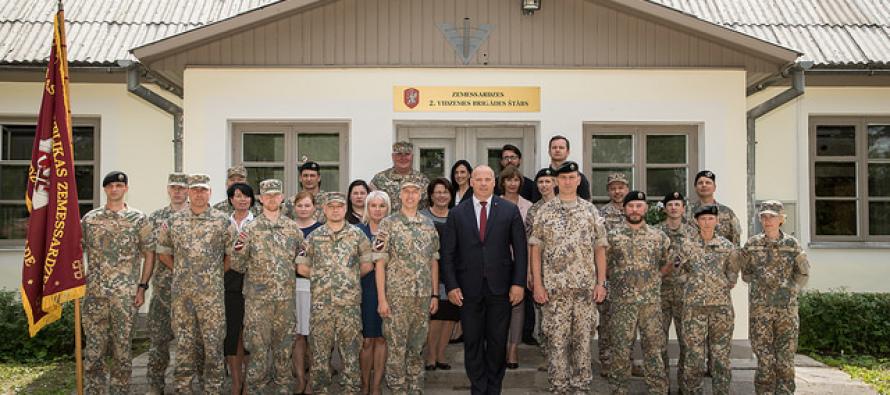 Штаб 2-й Видземской бригады Земессардзе переехал