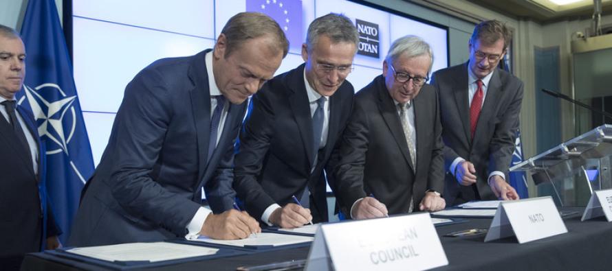 Лидеры НАТО и ЕС подписали совместную декларацию