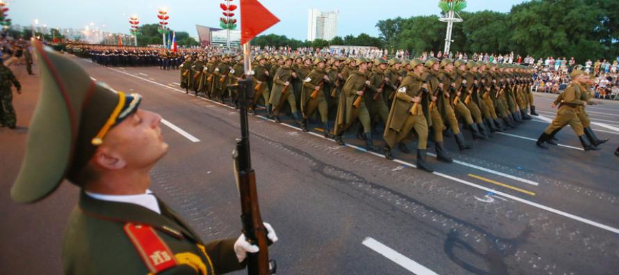 Генеральная репетиция парада войск Минского гарнизона