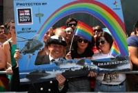 Королевские ВМФ и Морская пехота участвовали в параде