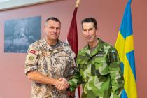 Встреча с командующим Шведских вооружённых сил