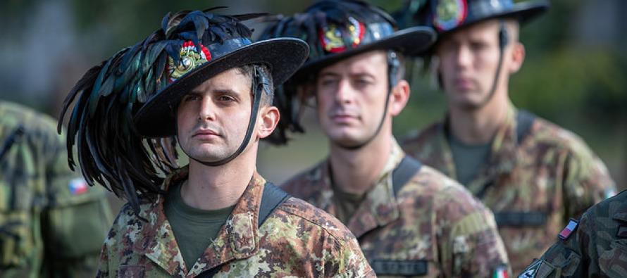 Визит в Латвию командующего итальянской армии