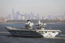 Авианосец «Королева Елизавета» прибыл в Нью-Йорк