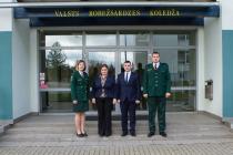 Визит белорусских пограничников в Резекне