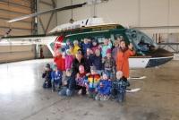 Школьники в гостях у воздушных пограничников