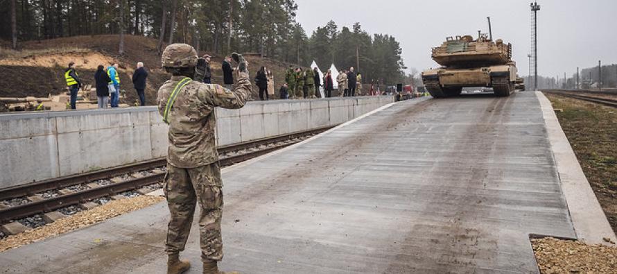 Новые рампы для разгрузки танков в Гаркалне