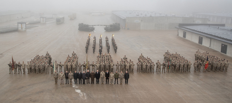 Знамя Артдивизиона вернулось на базу в Адажи