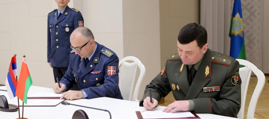 Рабочая встреча министров обороны Беларуси и Сербии