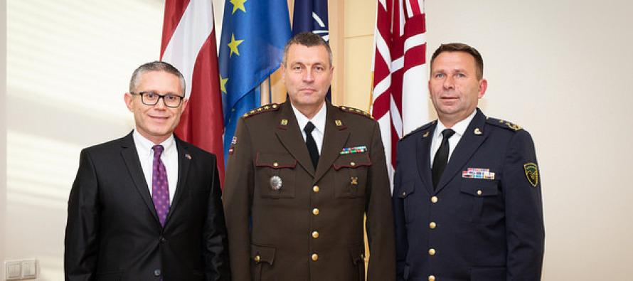 Визит руководителей обороны Косово в Латвию
