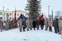 Памятное мероприятие «День Знамени» в Скрунде