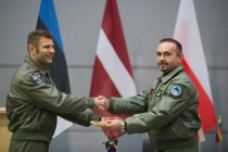 В Шяуляе смена Миссии воздушной полиции