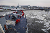 Ракетный эсминец USS Porter (DDG 78) пришёл в Ригу