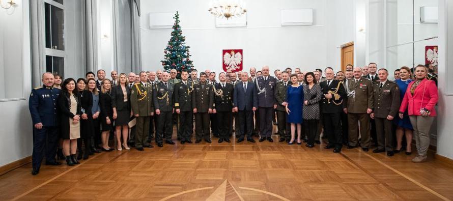 Приём военных атташе в Варшаве