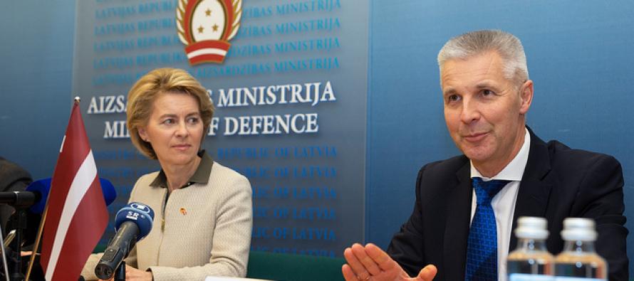Визит министра обороны Германии в Латвии