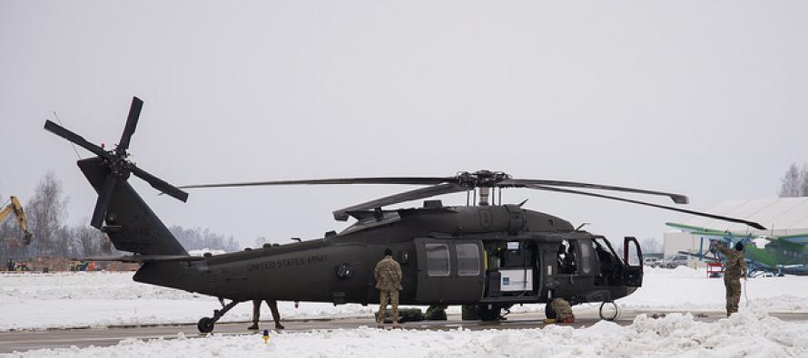 В Латвию прибыли 13 вертолётов США и техперсонал