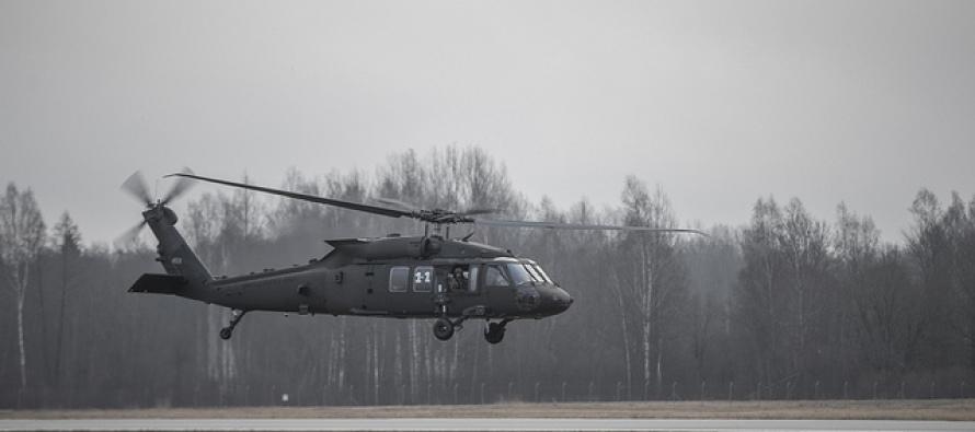 Занятия с вертолётами на Авиабазе в Лиелварде