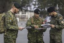 Учения по ориентированию для земессаргов и солдат