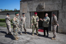 Визит представителей вооружённых сил Грузии
