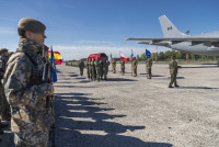 Прощание с командиром Албанского контингента
