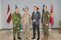 Визит в Латвию директора Шведских вооружённых сил