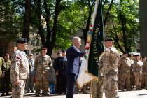 Церемония смены командира Земессардзе