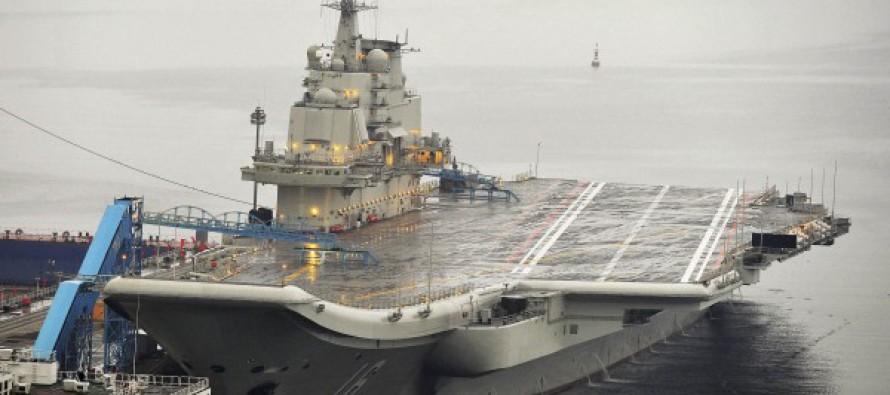 Китайский авианосец прошел между японскими островами