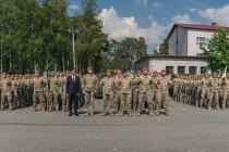 Смена командира 1-го пехотного батальона Мехбригады