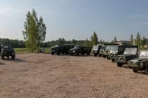Открытие экспозиции военной техники