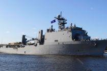 """Десантный корабль ВМФ США """"USS Fort McHenry"""" в Риге"""
