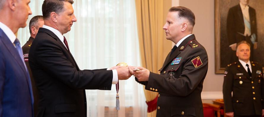 Присвоение Илмару Атису Леиньшу звания бригадного генерала
