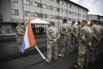 Открытие новой казармы на военной базе Адажи