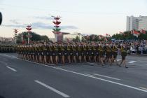 Военный парад прошёл в Минске