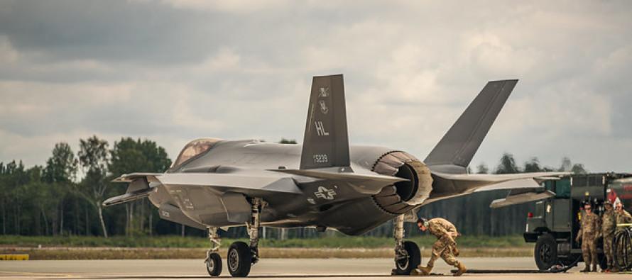 На авиабазе в Лиелварде сели два «F-35» ВВС США