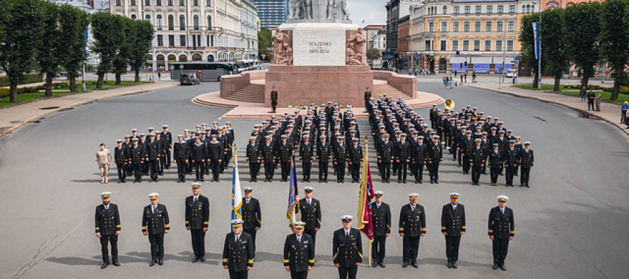 Празднование 100-летия Военного флота Латвийской армии