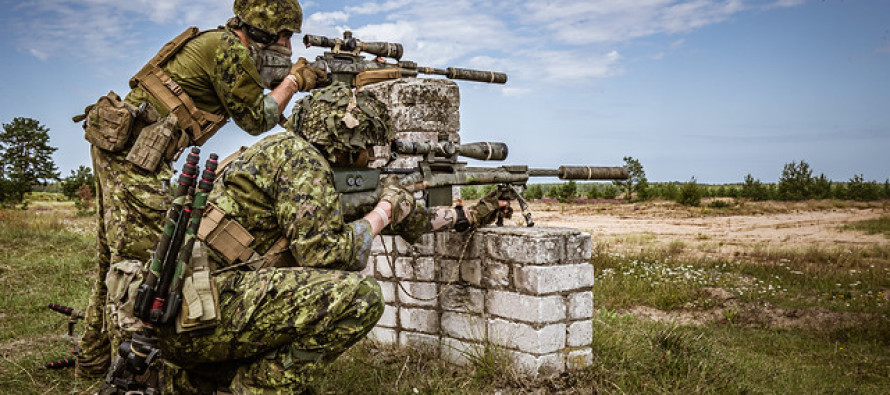 Соревнование снайперов прошли в латвийских НВС