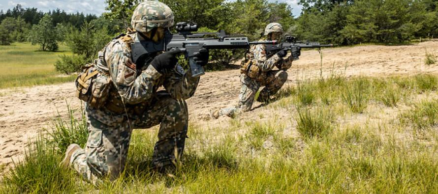 Учения 13-го пехотного батальона Земессардзе