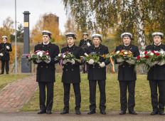 Памятная церемония в Даугавгриве